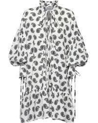 MSGM - Платье Из Хлопка С Принтом - Lyst