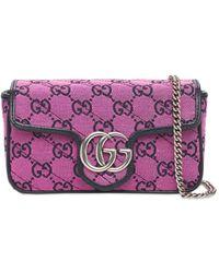 Gucci Сумка Mini Gg Marmont Multicolor - Розовый