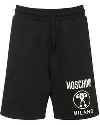 Moschino コットンジャージーハーフパンツ - ブラック