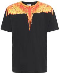 Marcelo Burlon Lvr Exclusive Wings コットンtシャツ - ブラック