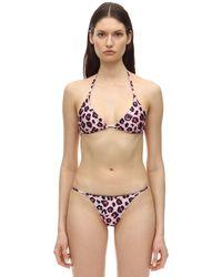 Chiara Ferragni Bikini Mit Leodruck - Pink