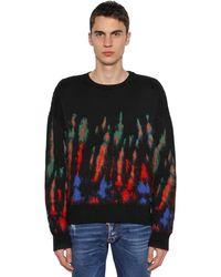 DSquared² ウール混クルーネックセーター - ブラック
