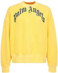 Palm Angels - Vintage Wash Curve Logo Sweatshirt - Lyst