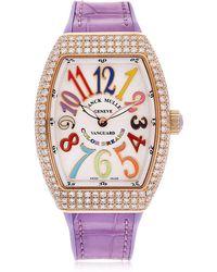 Franck Muller - Vanguard Lady Diamond 32mm Watch - Lyst