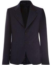 Versace ジャカードウールブレンドジャケット - ブルー