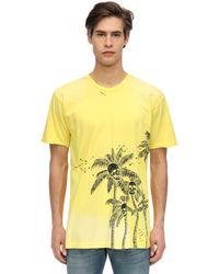 DOMREBEL T-shirt Aus Baumwolljersey Mit Druck - Gelb