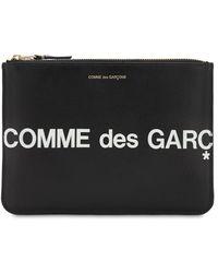 Comme des Garçons Кожаный Клатч С Логотипом - Черный