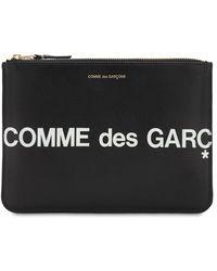 Comme des Garçons - Кожаный Клатч С Логотипом - Lyst