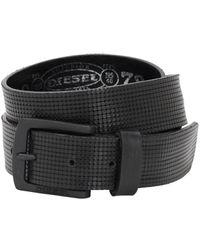 DIESEL 35mm Leather Belt - Black