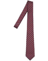 Gucci Шелковый Галстук 7см - Пурпурный