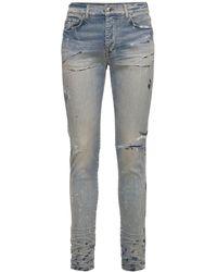Amiri Enge, Handbemalte Jeans Aus Denim - Blau