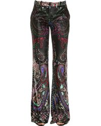 Roberto Cavalli | Paisley Printed Velvet Trousers | Lyst