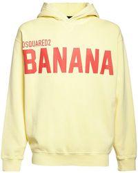 DSquared² - Printed Cotton Jersey Sweatshirt Hoodie - Lyst