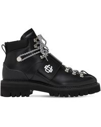 DSquared² Кожаные Ботинки На Шнуровке 50мм - Черный