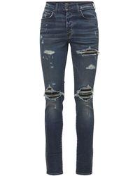 """Amiri Jeans """"mx1"""" De Denim De Algodón Y Ante 15cm - Azul"""