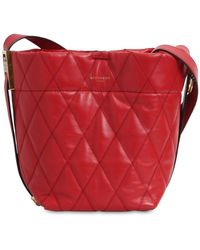 Givenchy Mini Gv Quilted Leather Bucket Bag - Red