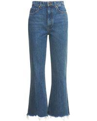 """Khaite Jeans """"gabbie Crop Bell Bottom"""" - Blu"""