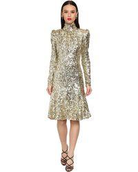 Dolce & Gabbana Midikleid Mit Pailletten - Mettallic