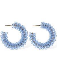 Simone Rocha Small Beaded Hoop Earrings - Blau
