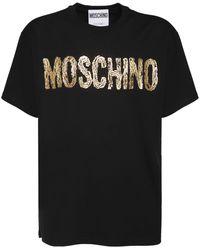 Moschino Gold コットンtシャツ - ブラック
