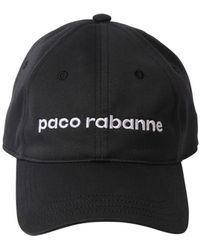 Paco Rabanne コットンキャップ - ブラック