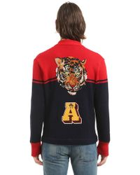 Gucci - Wool Cardigan W/ Tiger Patch On Back - Lyst