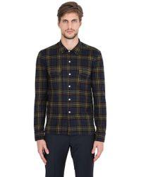 Salvatore Piccolo - Plaid Cotton Flannel Shirt - Lyst