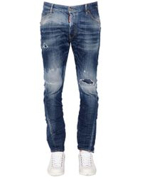 DSquared² - Jeans Kenny Twist Fit In Denim Stretch 16.5cm - Lyst