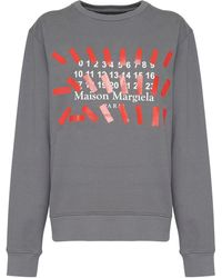 Maison Margiela コットンフリーススウェットシャツ - グレー