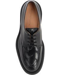 """Bottega Veneta Chaussures Varenne En Cuir """"bv Level"""" - Noir"""