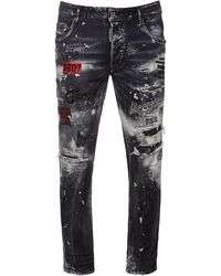 DSquared² Jeans Skater In Denim Di Cotone 16cm - Nero