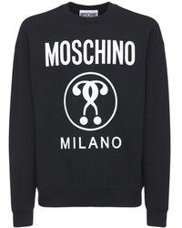 Moschino - Хлопковый Свитшот С Принтом Логотипа - Lyst