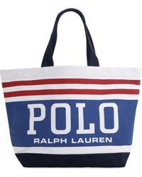 Polo Ralph Lauren コットントートバッグ - ブルー