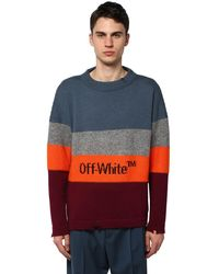 Off-White c/o Virgil Abloh Sweater Aus Wollmischung - Blau