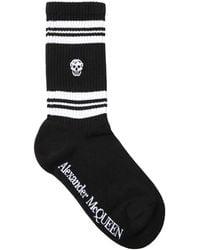 Alexander McQueen Спортивные Носки С Принтом Skull - Черный