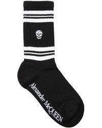 Alexander McQueen Skull コットンブレンドソックス - ブラック