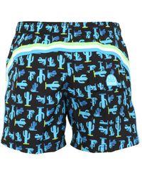 """Sundek - """"14"""""""" Cactus Print Nylon Swim Shorts"""" - Lyst"""