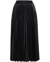 Givenchy テクノジャージープリーツスカート - ブラック