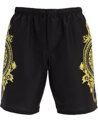 Versace Shorts Mare In Nylon - Nero