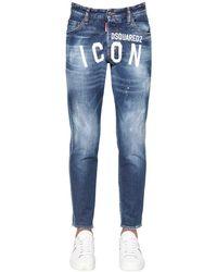 DSquared² 15cm Jeans Aus Denim Mit Druck - Blau