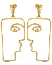 Nina Kastens Jewelry The Face Earrings - Metallic