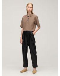 Designers Remix Lucca ウールニットシャツ - ブラウン