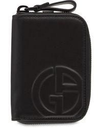 Giorgio Armani Кожаный Кошелёк С Логотипом - Черный