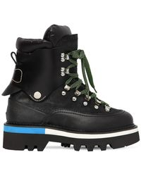 DSquared² 50mm Suede & Nylon Hiking Boots - Black