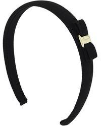 Ferragamo 2cm Vara Bow Headband - Black