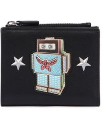 MCM - Mini Roboter Leather Wallet W/ Zip - Lyst