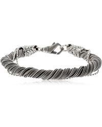 Emanuele Bicocchi - Torsion Silk Chain Bracelet - Lyst