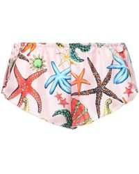 "Versace Shorts Aus Seidentwill ""tresor De La Mer"" - Mehrfarbig"