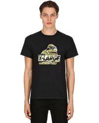 """X-Large Camiseta De Jersey De Algodón Estampado """"camo Og"""" - Negro"""