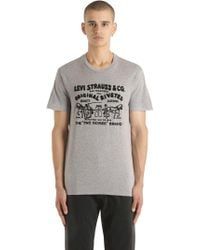 Levi's - Flocked Two Horse Cotton Jersey T-shirt - Lyst